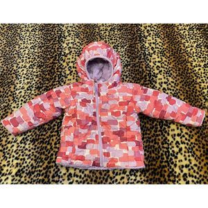 North Face Girls 12-18 Month Furry Coat Reversible